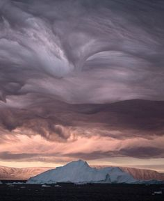 something got inverted here :: mountains in the sky :: Stratus Clouds, Greenland [Bryan and Cherry Alexander]