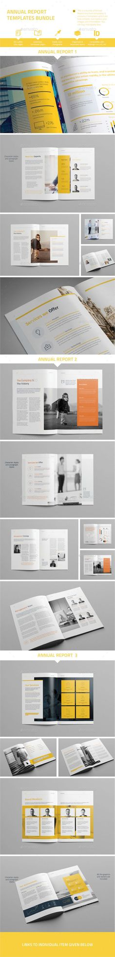 Annual Report Template InDesign INDD Bundle