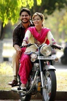 Cute Punjabi Couple on Enfield