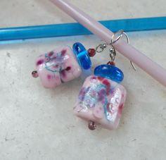 Lampwork Earrings Handmade Glass jewelry Unique by CandanImrak
