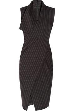 Donna Karan New York – Origami wool-blend dress Donna Karan – talk about a sexy office look Donna Karan, Work Fashion, Fashion Details, Fashion Design, Fashion Art, Designer Clothes Sale, Discount Designer Clothes, Origami Vestidos, Origami Dress
