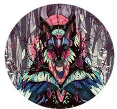 criaturas del bosque /creatures of forest by nijah lefevre, via Behance Dragons, Sphinx, Exotic Art, Forest Creatures, Love Illustration, Digital Illustration, Fantastic Art, Awesome, Behance