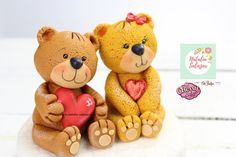 Bear fondant  cake topper Rice Krispies, Rice Krispie Treats, Sugar Paste, Bear Cakes, Safe Food, Making Out, Cake Toppers, My Etsy Shop, Teddy Bear