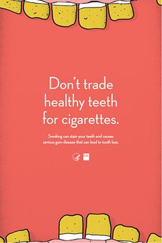 Poster: Don't Trade Healthy Teeth for Cigarettes