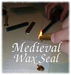 I show you how to use a medieval wax seal. You drip the wax on the paper, then press the seal into the hot wax. Medieval Crafts, Medieval Party, Art Perdu, Middle Ages History, Renaissance And Reformation, Tapestry Of Grace, Teaching History, History Education, Social Studies Notebook
