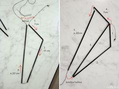 Villa H: TÄHTIHIMMELI -OHJE Straw Art, Gnome Ornaments, Origami, Triangle, Villa, Chart, Ink, How To Make, Helmet
