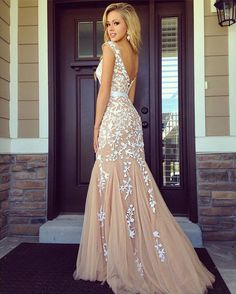 long light prom dress