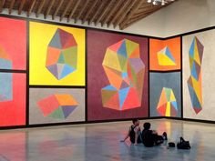 Sol LeWitt at the Paula Cooper Gallery from Apt. Therapy. I love the combination of bright colors with earthy tones.
