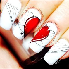 VALENTINE by ohmygoshpolish #nail #nails #nailart