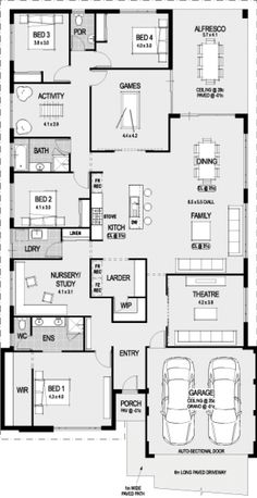 Bordeaux floor plan - lots of living space!!