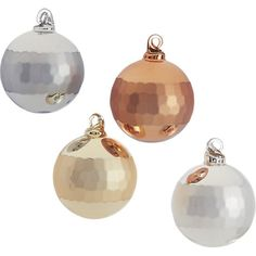 reflect metallic ornaments set of four | CB2