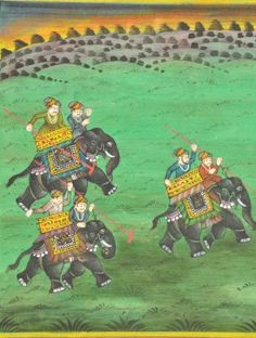 Polo [Framed] -- Water Color on Paper -- Miniature-painting art from Rajasthan can be traced back to the 10th century.