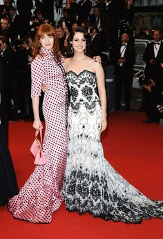 Florence Welch and Lana Del Rey at the 66th Cannes Film Festival.