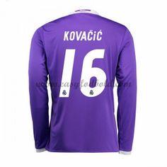 Fodboldtrøjer La Liga Real Madrid 2016-17 Kovacic 16 Udebanetrøje Langærmede