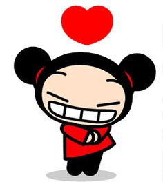 This is pucca. She is so cute!!! I love this show!(-: