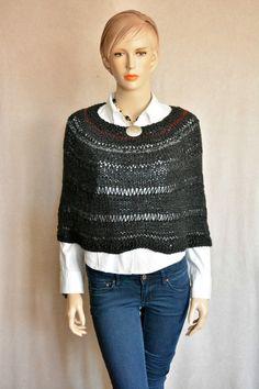 Knitted Capelet Women Knitwear Women Poncho by CasadeAngelaCrochet 10% off, till 12/31/16.