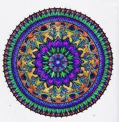 ⊰❁⊱ Mandala ⊰❁⊱  Místico Tinta de Libro (Diseño de Dover que Colorea Libros)