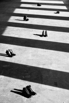Black & White Sturdy Feet
