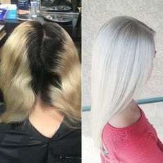 Before and after with Olaplex.