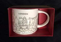 Starbucks London YAH Mug Christmas 2017 Big Ben Tower Cup Holiday You Are Here #Starbucks