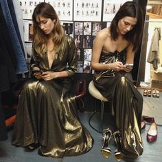 The Hall Dress and Tina Dress. #donttextandgown https://www.thereformation.com/products/tina-dress-golden?utm_source=pinterest&utm_medium=organic&utm_campaign=PinterestOwnedPins