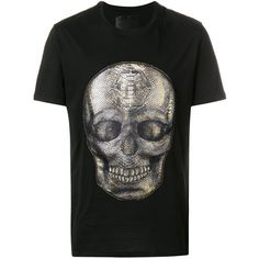 Philipp Plein Already Gone T-shirt ($530) ❤ liked on Polyvore featuring men's fashion, men's clothing, men's shirts, men's t-shirts, black, mens skull t shirts, mens skull shirts, mens crew neck shirts, mens cotton t shirts and mens crew neck t shirts
