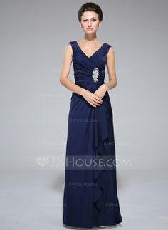 Mother of the Bride Dresses - $109.99 - Sheath/Column V-neck Floor-Length Jersey Mother of the Bride Dress With Beading Sequins Split Front Cascading Ruffles (008042328) http://jjshouse.com/Sheath-Column-V-Neck-Floor-Length-Jersey-Mother-Of-The-Bride-Dress-With-Beading-Sequins-Split-Front-Cascading-Ruffles-008042328-g42328