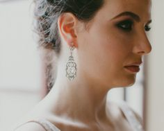 Turn up the vintage volume with these glamorous crystal drop wedding earrings. Bridal Jewelry, Jewelry Box, Jewellery, Simple Black Dress, Diamond Earrings, Drop Earrings, Wedding Earrings Drop, Crystal Drop, Jewelry Packaging
