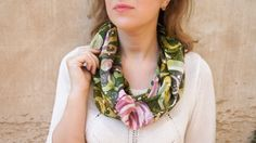 Free shipping now Hand painted batik silk scarf Flower от LekaArt, $85.00
