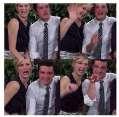 Jennifer Lawrence and Josh Hutcherson. Perfect duo right here. #catchingfire