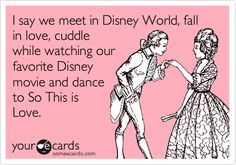 He crushed my dreams....he's a Disney Hater (gasp!) But we had a string quartet playing Disney songs at our wedding, he is literally surrounded by Disney stuff and I have managed to go to Disney 7 times in our almost 12 years of marriage. He's definitely a keeper!