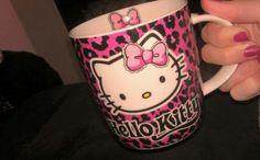 Ahhhh Pink leopard print Hello Kitty mug! Deff worth waking up for! :)