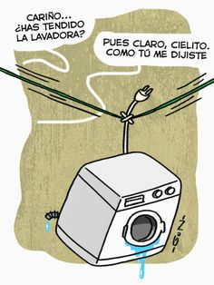 Tendiendo la lavadora...