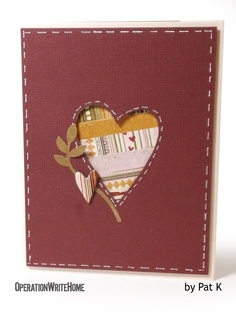 Use a die to create a window for some patterned scraps...cute card!