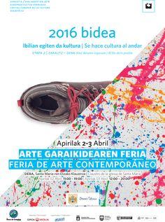 """2016 Bidea"" ARTE GARAIKIDEAREN FERIA DE ARTE CONTEMPORÁNEO Apirilak 2-3 Abril DEBA (Gipuzkoa)"