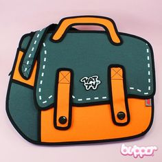 2D Cartoon Shoulder Bag