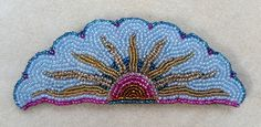Bead Embroidered Brooch: Here Comes the Sun!