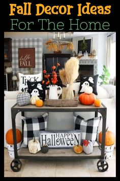 Look at these unique fall decorating ideas - such cheap & easy fall decorating ideas to decorate your home for fall, thanksgiving and/or halloween on a budget