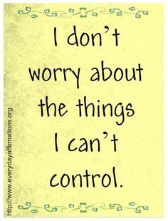 An Affirmation a Day Will Keep the Negativity Away: Let go of Worry