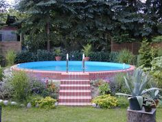 Effektvolle Poolgestaltung im Garten - All For Garden Swimming Pools Backyard, Pool Decks, Backyard Landscaping, Above Ground Pool, In Ground Pools, Pergola Designs, Pool Designs, Piscina Intex, Stock Tank Pool