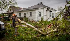 THURMAN, IA - APRIL 14:  Members of local and area fire departments go house to house checking on residents after an apparent tornado April 14, 2012 in Thurman, Iowa. The storms were part of a massive system that affected areas from Northern Nebraska south through Oklahoma. (Photo by Eric Francis/Getty Images) Photo: Eric Francis, Getty Images / 2012 Getty Images