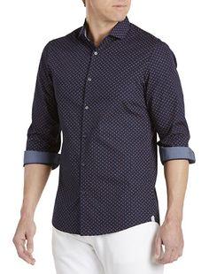 f3c637f358fedf Michael Kors® Cross Print Sport Shirt Big And Tall Style