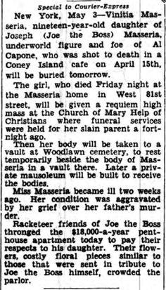 Daughter of Joe the Boss (2 of 2) Buffalo Courier Express - May 4, 1931