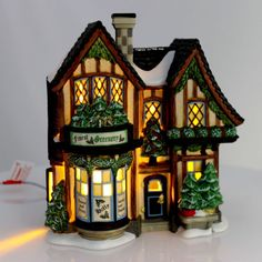 Department 56 Dickens Finest Greenery House The Sounds of Christmas 4049196 for sale online Christmas Town, Department 56, Time Of The Year, Wonderful Time, Greenery, Gazebo, Outdoor Structures, House, Miniatures