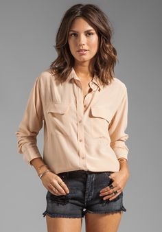 EQUIPMENT Signature Blouse in Nude at Revolve Clothing - Free Shipping!