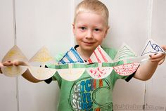 Paper dolls and other paper chain ideas. Great trick to pull out the amuse the kiddos.