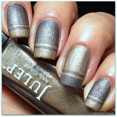 silver & gold nails diff but cool Cute Nails, Pretty Nails, Classy Nails, Gorgeous Nails, Fan Nails, Nailart, Nail Envy, Tips & Tricks, Garra