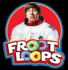 "00's Tv Classic The Big Bang Theory Howard ""Froot Loops"" Custom Tee Any Size"