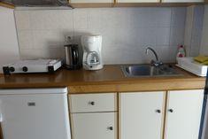 Kitchen equipment at Skrekos Villa.
