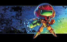 Metroid Chibi by RobDuenas.deviantart.com on @deviantART